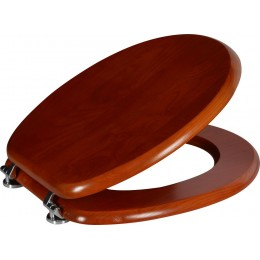 AQUALINE WC sedátko, dřevěné, třešeň