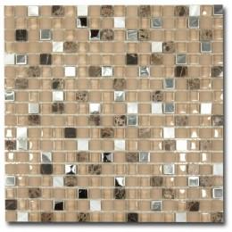 MOZAIKA Brown Pearl 305x303x8mm (sklo/kámen) vnitřní