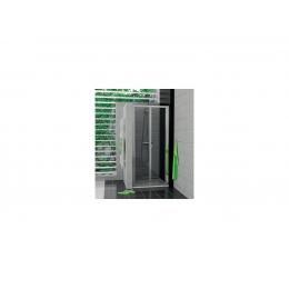 TOP-LINE Zalamovací dveře 80cm, čiré sklo, aluchrom