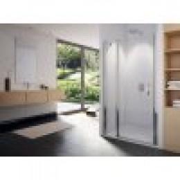 SWING-LINE Jednokřídlé dveře s pevnou stěnou v rovině, 120cm čiré sklo
