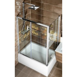 DEEP boční stěna 75x150 cm, čiré sklo