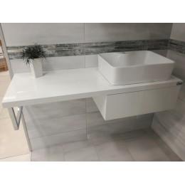 Koupelnová deska se skříňkou, 70406-DŘEV