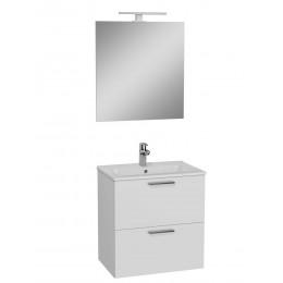 Umyvadlová skříňka vč. zrcadla SET bílá 60cm