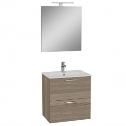 Umyvadlová skříňka vč. zrcadla SET Cordoba dřevo 60cm