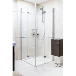 Sprchové dveře skládací 90cm, čiré sklo