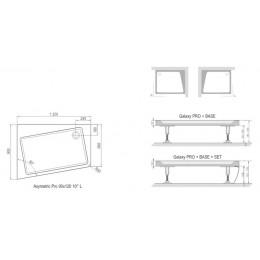 Panel k vaničce ASYMETRIC PRO 120x90 cm SET L 10° white