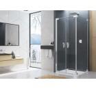 CADURA dvoukřídlé dveře 110cm, čiré sklo, aluchrom