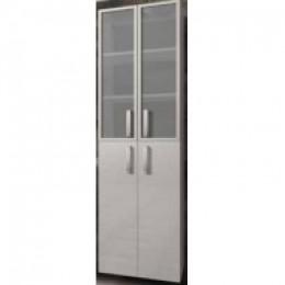 INTEDOOR Vysoká skříňka se sklem a košem NY SVG 50 K , š: 50cm