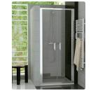 SanSwiss TOP-LINE - Dvoukřídlé dveře,šířka 800 mm,výška 1900 mm,aluchrom,čiré sklo - TOPP208005007