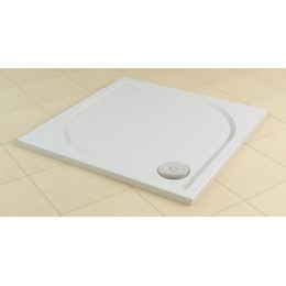 SanSwiss MARBLEMATE sprchová vanička bílá,čtvercová 90x90x3 cm,900/30, WMQ090004