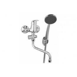 Umyvadlová a sprchová nástěnná baterie 100 mm s příslušenstvím - otočný přepínač, MK43946