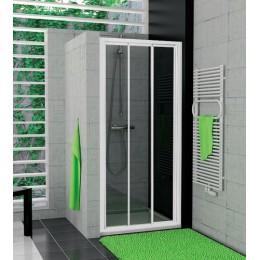 TOP-LINE třídílné posuvné dveře, 100cm, bílé