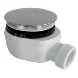 GELCO vaničkový sifon, průměr otvoru 90 mm, DN40, nízký, krytka leštěná nerez
