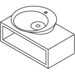 Sapho FATIMA podstavec pod umyvadlo 80x27,5x44cm, makassar ( 51602 )