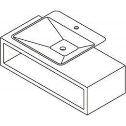 Sapho FATIMA podstavec pod umyvadlo 100x27,5x44cm, makassar ( 51603 )