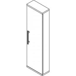 Sapho BEATA skříňka vysoká 40x140x18cm, pravá, wenge/bílá ( 52115P )