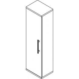Sapho BEATA skříňka vysoká 40x140x30cm, levá, wenge/bílá ( 52116L )