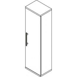 Sapho BEATA skříňka vysoká 40x140x30cm, pravá, wenge/bílá ( 52117P )
