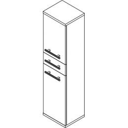 Sapho BEATA skříňka vysoká 35x140x30cm, pravá, wenge/bílá ( 52135P )