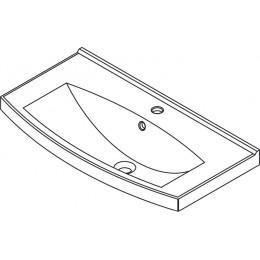 Sapho TEFEN keramické umyvadlo 85x45cm, nábytkové ( TF085 )