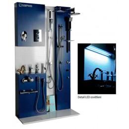 Sapho Designový stojan včetně vzorků vodovodních baterií a sprch. ( V-WALL1 )