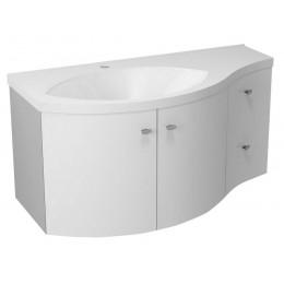 Sapho AILA umyvadlová skříňka 110x39cm, bílá/stříbrná, zásuvky vpravo ( 55622 )