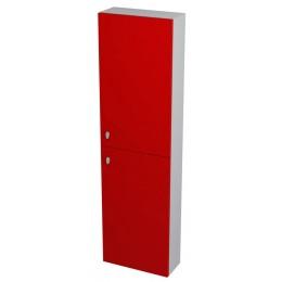 Sapho AILA skříňka vysoká 40x140x18cm, pravá, červená/stříbrná ( 55625 )