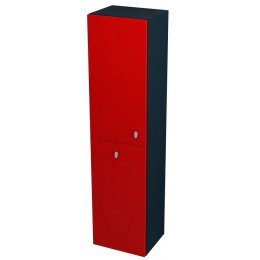 Sapho AILA skříňka vysoká s košem 35x140x30cm, levá, červená/černá ( 55671 )