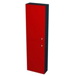 Sapho AILA skříňka vysoká 40x140x18cm, levá, červená/černá ( 55677 )