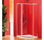 SIGMA čtvrtkruhová sprchová zástěna 900x900 mm, R550, 1 dveře, L/R, čiré sklo