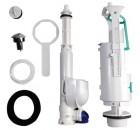 EGO-FLO-CENTO-RETRO úsporný splachovací mechanismus na WC kombi, chrom ( 750990 )