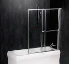 OLBIA pneumatická vanová zástěna 1230mm, stříbrný rám, čiré sklo ( 30317 )