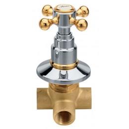 Sapho ANTEA podomítkový přepínač, chrom/zlato ( DEVIN22 )