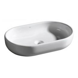 Sapho ZERO oválné umyvadlo bez přepadu 60x13x40cm
