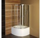 SELMA čtvrtkruhová sprchová zástěna 900x900x1500mm, čiré sklo ( TM1520 )