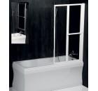 LANKA2 pneumatická vanová zástěna 820mm, bílý rám, čiré sklo ( 37517 )