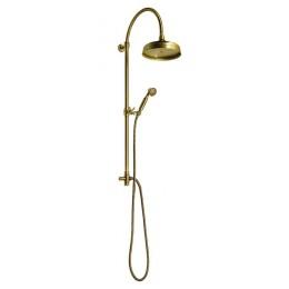 Sapho ANTEA sprchový sloup k napojení na baterii, hlavová a ruční sprcha, bronz ( SET036 )