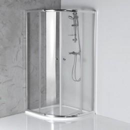 Sapho ARLETA čtvrtkruhová sprchová zástěna 900x900mm, čiré sklo ( HLS900 )