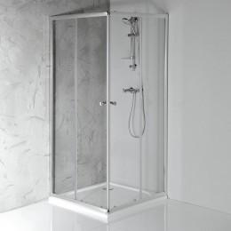Sapho AGGA čtvercová sprchová zástěna 900x900mm, čiré sklo ( HLF909 )