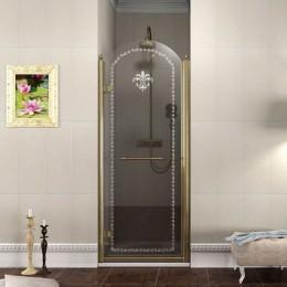 Sapho ANTIQUE sprchové dveře 900mm, levé, čiré sklo s dekorem, bronz ( GQ1290L )