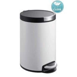Sapho ARTISTIC odpadkový koš 5l, Soft Close, bílá ( DR142 )
