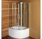 SELMA čtvrtkruhová sprchová zástěna 900x900x1500, čiré sklo ( MD2515 )
