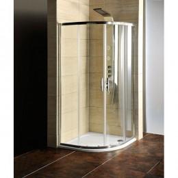 Sapho AKCE čtvrtkruhová sprchová zástěna 900x900x1900mm, čiré sklo ( AG4290 )