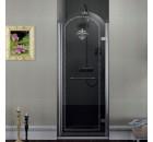 ANTIQUE sprchové dveře 800mm, pravé, čiré sklo s dekorem, chrom ( GQ1680R )