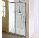 ANTIQUE sprchové dveře, posuvné,1300mm, čiré sklo s dekorem, chrom ( GQ4513 )
