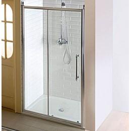 Sapho ANTIQUE sprchové dveře, posuvné,1300mm, čiré sklo s dekorem, chrom ( GQ4513 )
