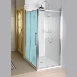 Sapho ANTIQUE boční stěna 1000mm, čiré sklo s dekorem, chrom ( GQ5110 )