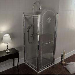 Antique obdélníkový sprchový kout 800x1000mm L varianta, chrom