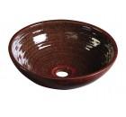 ATTILA keramické umyvadlo, průměr 46cm, purpurově červená                        ( DK013 )