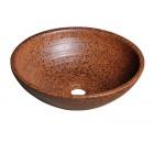 ATTILA keramické umyvadlo, průměr 46cm, terakota hnědá                           ( DK014 )